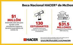 麦当劳将提供100万美元的奖学金