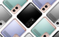 三星GalaxyZFlip3智能手机的概念渲染呈现多种颜色