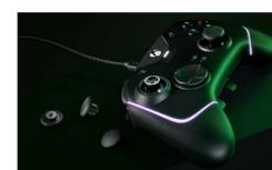 雷蛇推出带RGB照明的编织线缆XBOX控制器